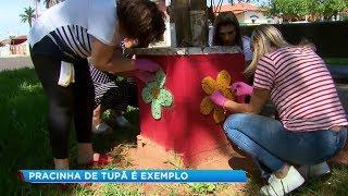 Moradores se unem e revitalizam praça em Tupã