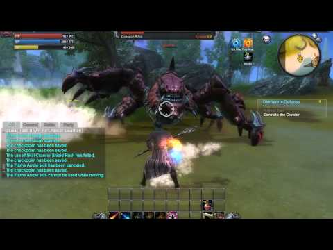 RaiderZ Gameplay – The Crawler Boss Fight