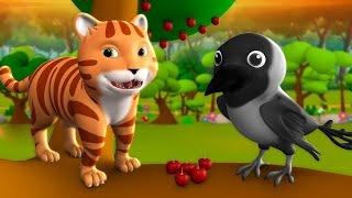 Billi Mausi Aur Kala Kauwa 3D Animated Hindi Moral Stories for Kids बिल्ली मौसी और कला कौआ Tales