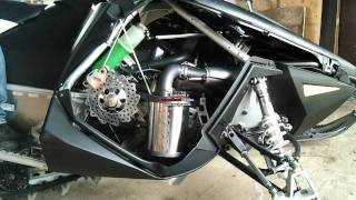 7. Polaris ProRMK 800 2012 stock exhaust VS MBRP trail exhaust