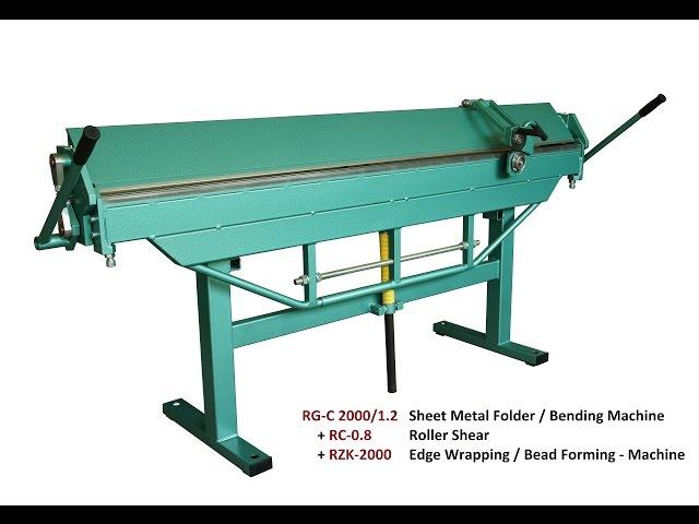 Sheet Bending Machine : Type rg c sheet metal bending machines folders