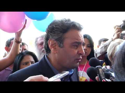 Convenção PSDB-MG – Entrevista coletiva senador Aécio Neves