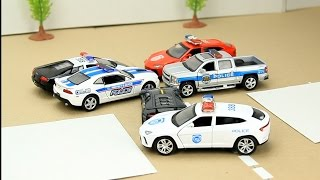 Police Chase for Kids with Police Cars & Police Helicopter Video for Kids