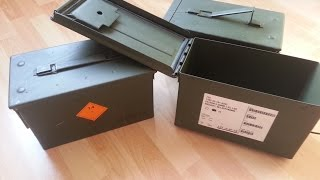 Norwegian Military Steel Ammunition Crates