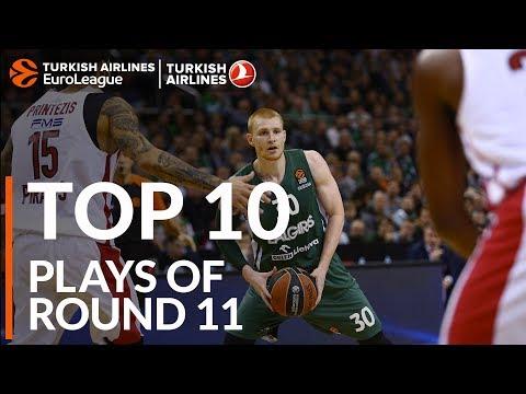 Top 10 Plays  - Turkish Airlines EuroLeague Regular Season Round 11