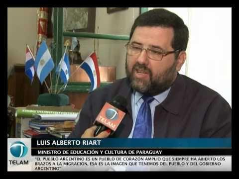 El ministro de educación y cultura de Paraguay, Luis Alberto Riart