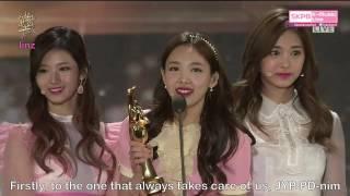 Download Lagu [ENGSUB/FULL] 170114 GDA TWICE win Daesang & Bonsang Speech Mp3