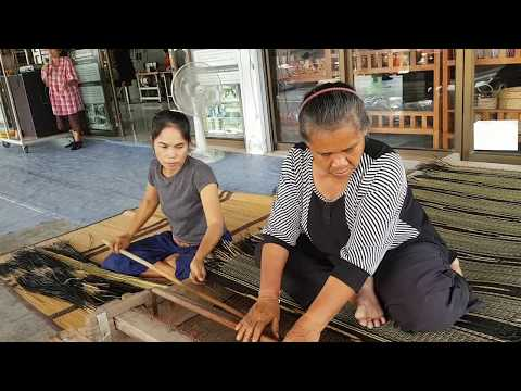 Reed mat weaving