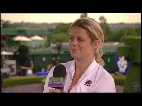 Kim Clijsters visits broadcasters studio - Wimbledon 2014