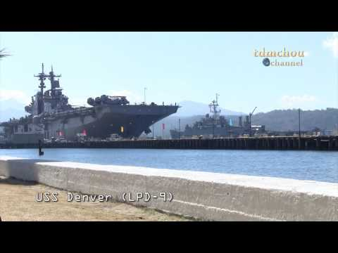 United States Naval Ships Docking At Subic Bay Freeport (HD)