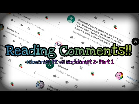Reading comments!! - Minecraft PE vs Worldcraft 2 Part1