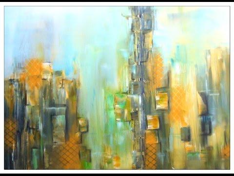 Abstrakte Malerei lernen, painting abstract, Großstadt, City