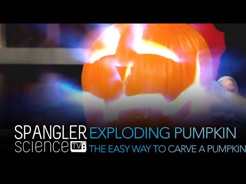 Way - See the full experiment here: http://www.stevespanglerscience.com/lab/experiments/exploding-pumpkin Just consider it a new way to carve a pumpkin at Halloween... the pumpkin is actually carved...