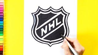 How to draw National Hockey League - NHL Logo