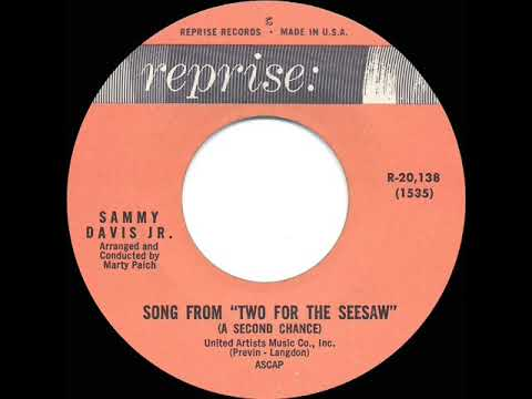 """1962 OSCAR-NOMINATED SONG: Song From """"Two For The Seesaw"""" (A Second Chance) - Sammy Davis Jr."""