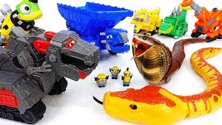 Video Giant Snakes Alert~! Go Dinotrux Defeat Monsters With Battle Armor - ToyMart TV MP3, 3GP, MP4, WEBM, AVI, FLV Desember 2017