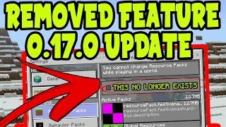 MCPE 0.17.0 UPDATE REMOVED FEATURE!! Minecraft Pocket Edition 0.17.0 Update Removed Feature (0.17.0)