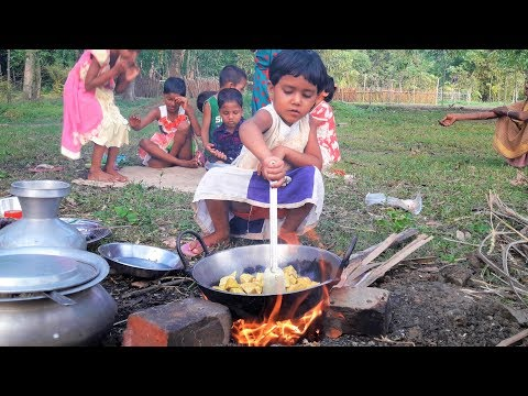 Special Egg Pulse Boilded Recipe Cooking | Village Kids Picnic - Cooking Into Nature