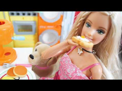 Rapunzel Barbie House Bedroom Morning With Dogs Morgen Mit Hunden Matin De Chambre Barbie Anjing
