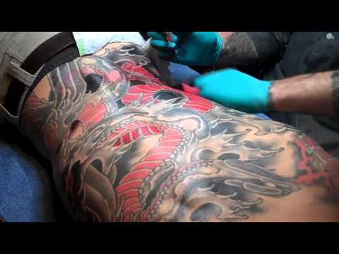 japanese tattoos snake and water   by HORI TSUKI KAGE 1
