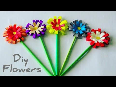How to make lavender paper flower easy origami flowers for 0447 easy paper flower making colorful paper flowers how to make paper flowers craft mightylinksfo
