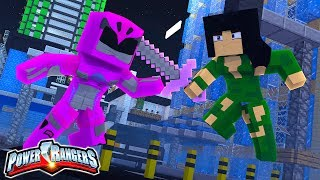 PINK POWER RANGER DEFUSES THE BOMB!! | Minecraft POWER  RANGERS #4 w/ Little Kelly