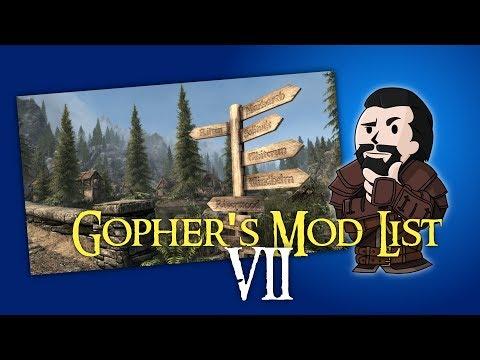 SKYRIM Special Edition : Gopher's Mod List #2 (видео)