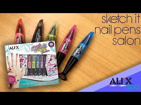 Nail salon - Precision Nail Decorating with ALEX Spa Sketch It Nail Pens Salon!