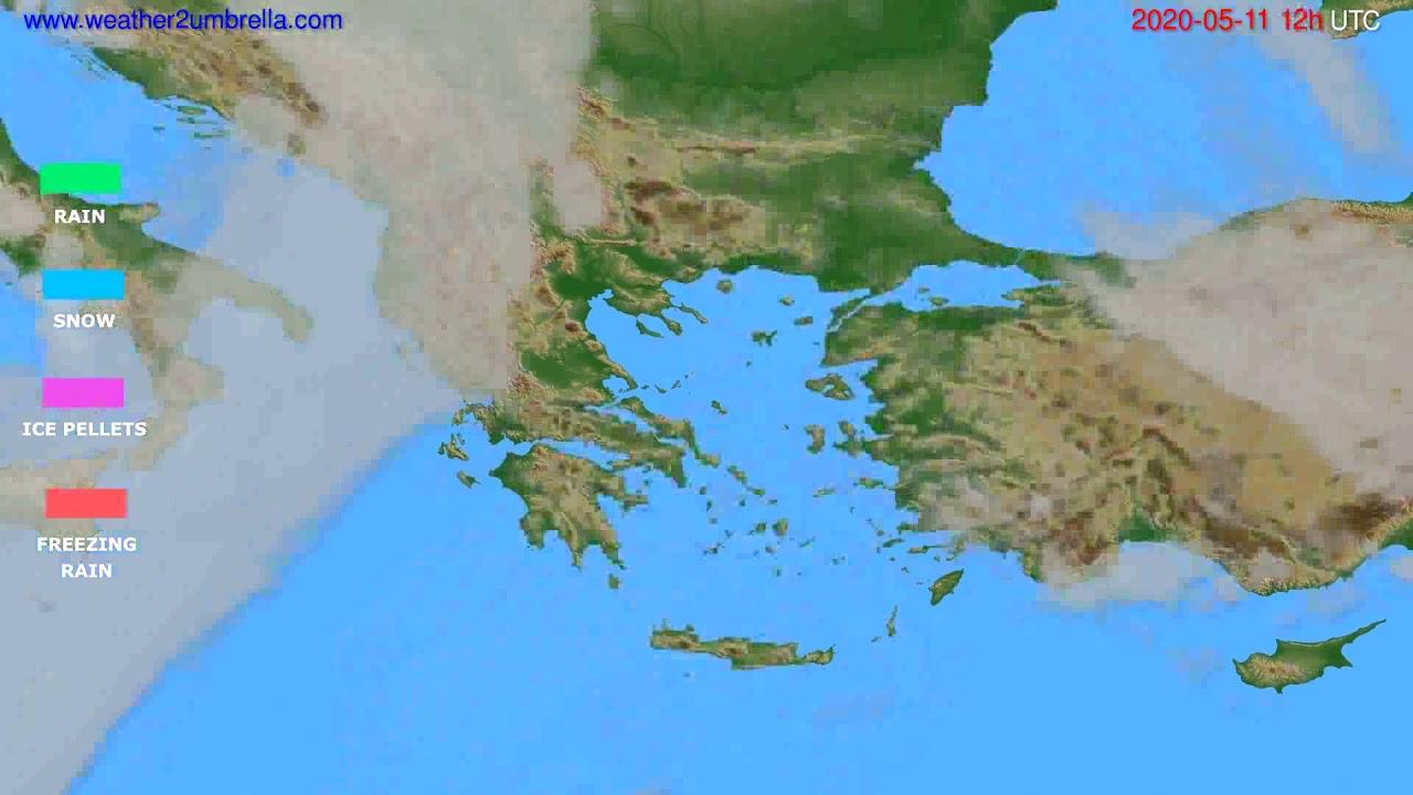 Precipitation forecast Greece // modelrun: 00h UTC 2020-05-11