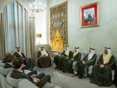 HRH the Crown Prince's meets HRH Prince Hashim bin Al Hussein