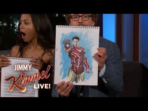 The Cast of Avengers Infinity War Draw Their