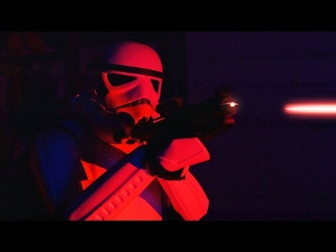 Here's A Fight Between A Jedi And Some Stormtroopers, Filmed In Total Darkness