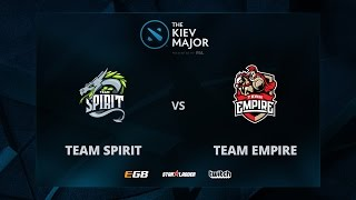 Empire vs Spirit, Game 1, The Kiev Major CIS Main Qualifiers