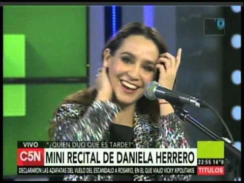 C5N QUIEN DIJO QUE ES TARDE MINI RECITAL DE DANIELA HERRERO2