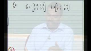Mod-01 Lec-03 Dual Of Linear Block Codes