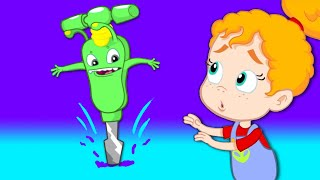 Video Groovy The Martian - Transforms into construction truck vehicles - Cartoon for children MP3, 3GP, MP4, WEBM, AVI, FLV Oktober 2018