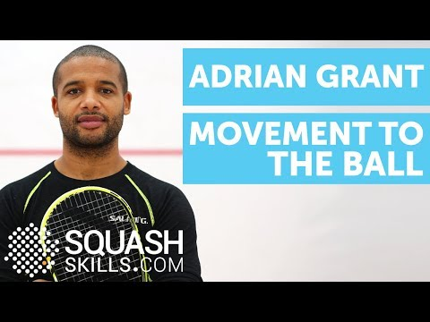 Squash coaching: Movement to the ball with Adrian Grant!