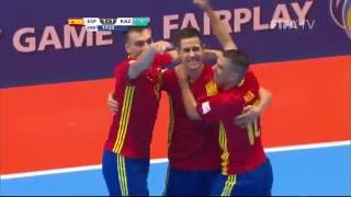 Watch Round of 16 highlights of the Spanish and Kazakh futsal teams from the Futsal World Cup in Colombia. MORE COLOMBIA 2016 MATCH HIGHLIGHTS: http://www.yo...