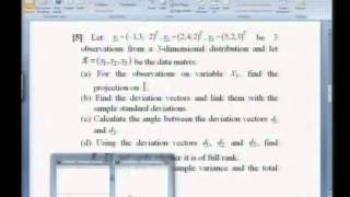 Mod-01 Lec-06 Some Problems On Multivariate Distributions - I