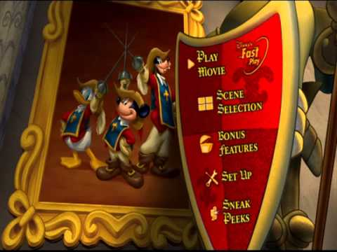 The Three Musketeers (Mickey/Donald/Goofy) [UK DVD Menu] Region 2
