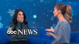 Jennifer Lopez surprises a super fan live on 'GMA'