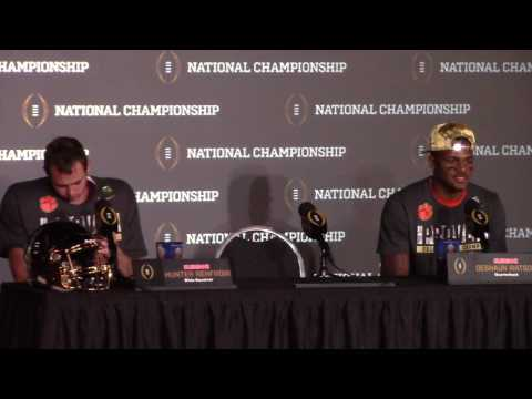 Download TigerNet.com - Watson, Renfrow postgame press conference after winning National Championship HD Mp4 3GP Video and MP3