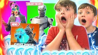 Surprising My Little Brothers With Free V-BUCKS + New Season 6 Skins! (Fortnite Battle Royale)