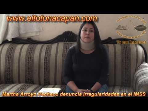 Martha Arroyo Pacheco denuncia irregularidades en el IMSS