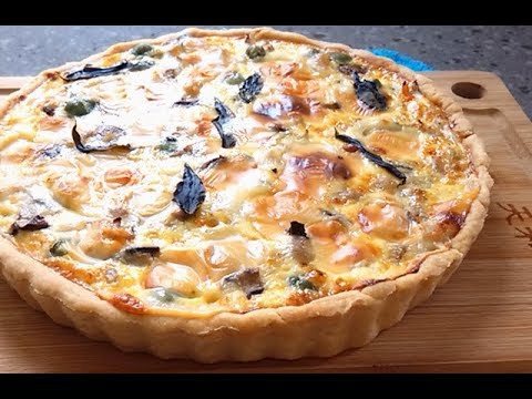 Chicken Mushroom Quiche ~ Superlicious!