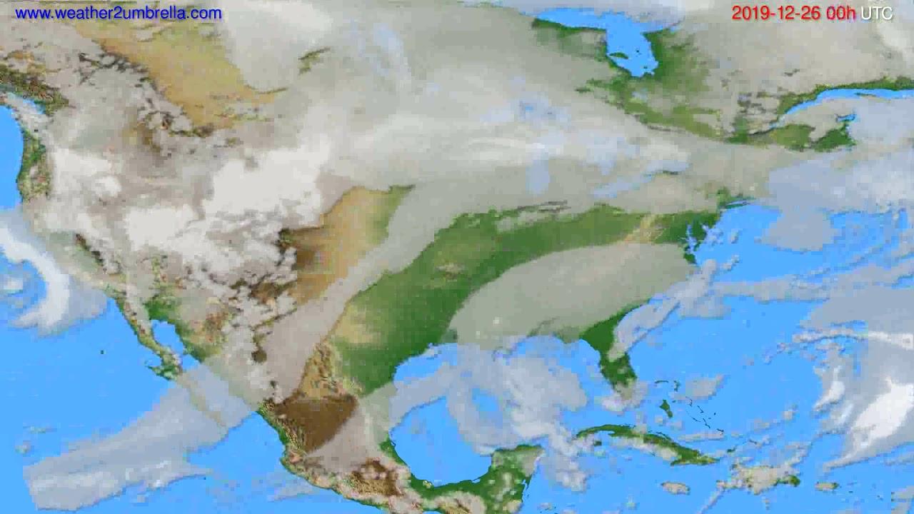 Cloud forecast USA & Canada // modelrun: 00h UTC 2019-12-25
