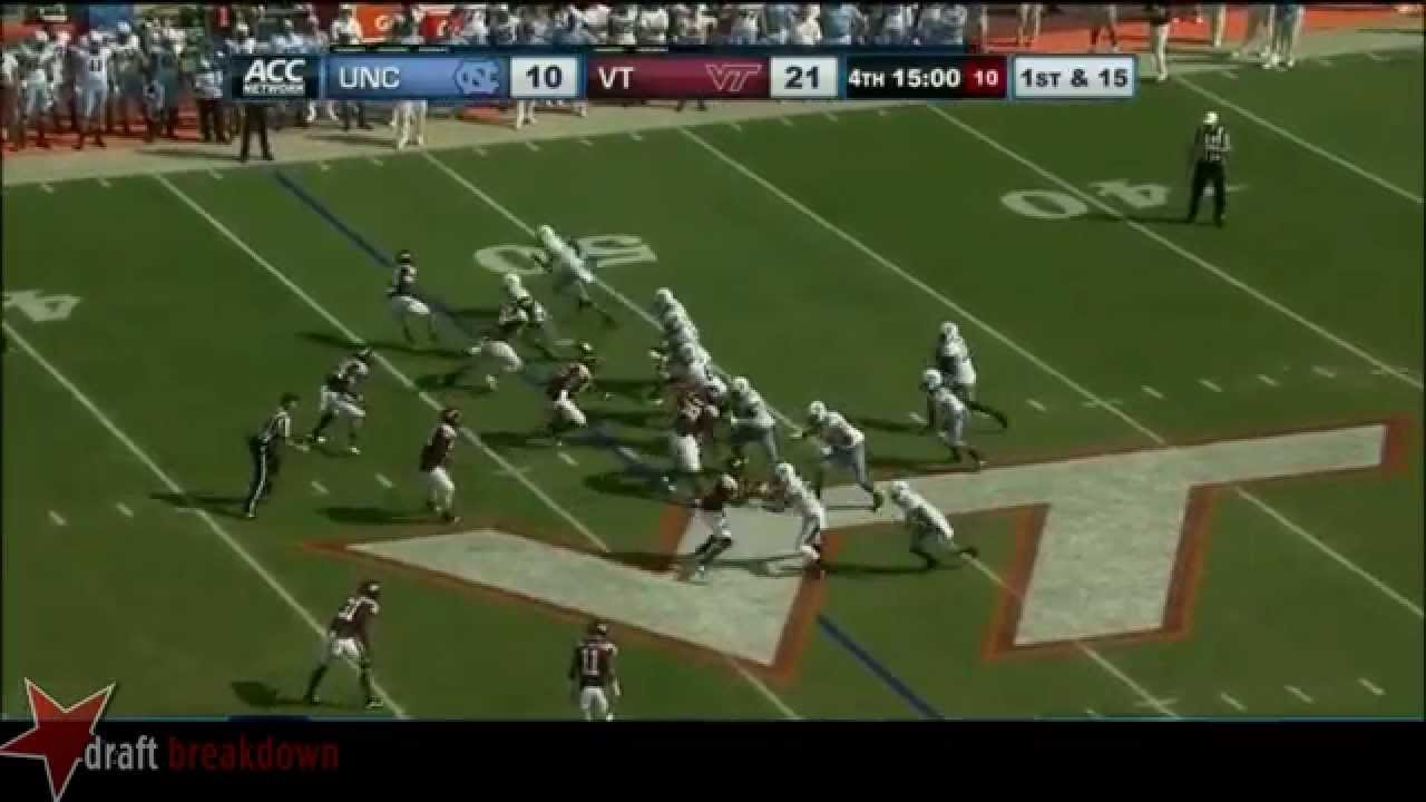 Russell Bodine vs Virginia Tech (2013)