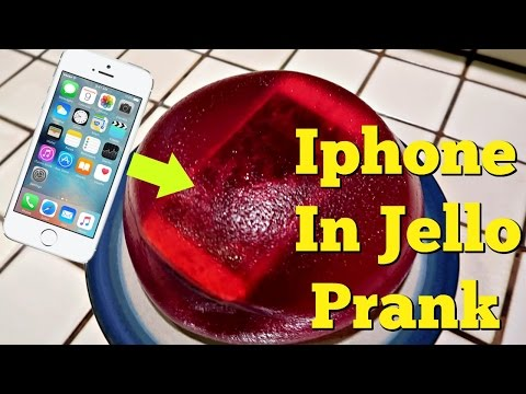 IPHONE IN JELLO PRANK