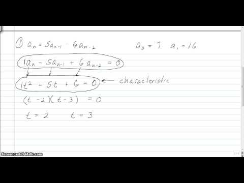 Solving Linear Recurrence Relations 1