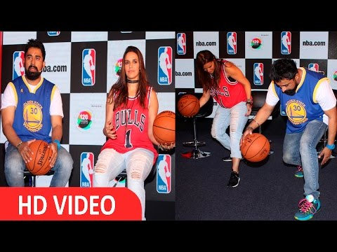 Neha Dhupia & Rannvijay Singh At Launch NBA Digital Destination UNCUT